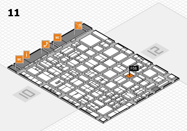 boot 2018 hall map (Hall 11): stand F58