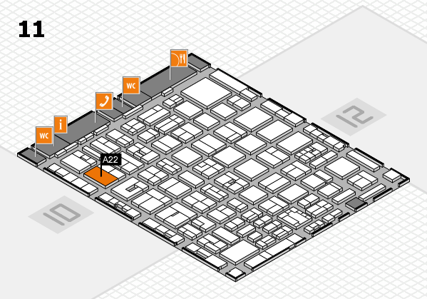 boot 2018 hall map (Hall 11): stand A22