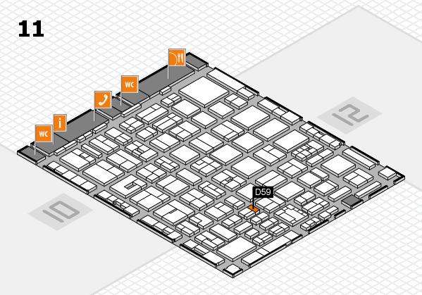 boot 2018 hall map (Hall 11): stand D59
