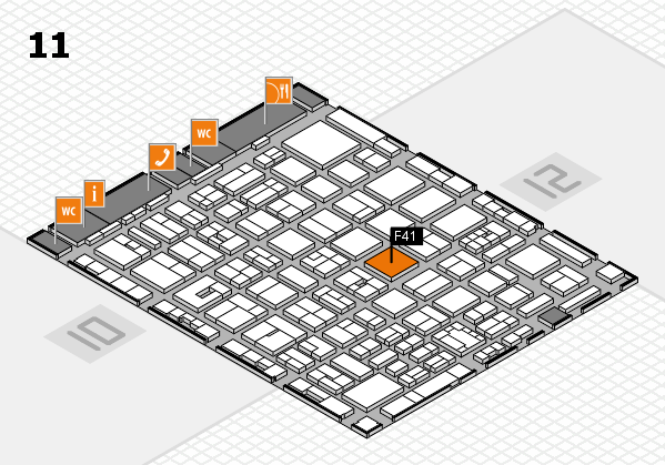 boot 2018 hall map (Hall 11): stand F41