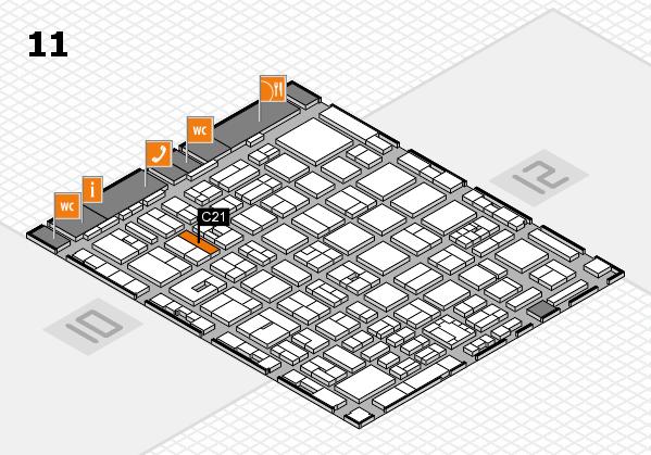 boot 2018 hall map (Hall 11): stand C21
