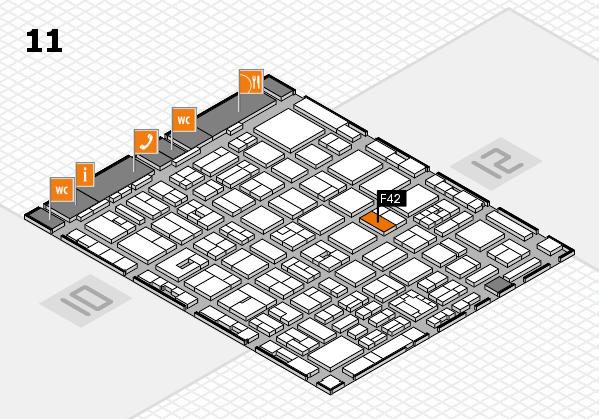 boot 2018 hall map (Hall 11): stand F42