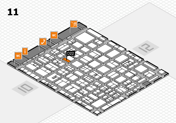 boot 2018 hall map (Hall 11): stand D22