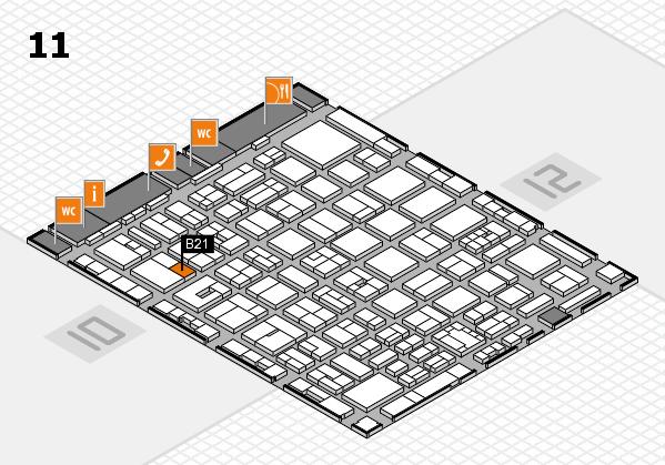 boot 2018 hall map (Hall 11): stand B21
