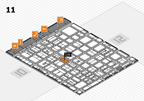 boot 2018 hall map (Hall 11): stand D39