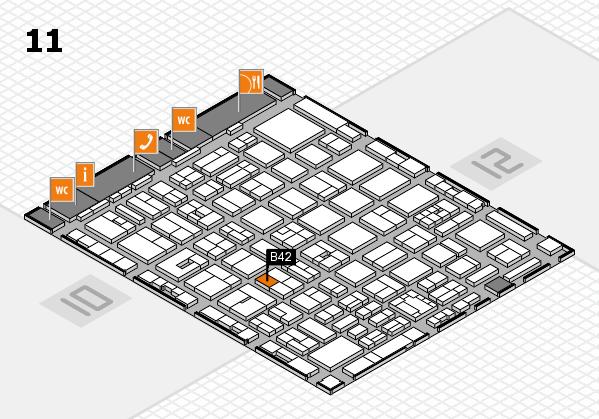 boot 2018 hall map (Hall 11): stand B42