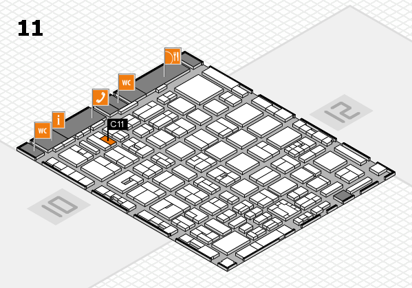boot 2018 hall map (Hall 11): stand C11