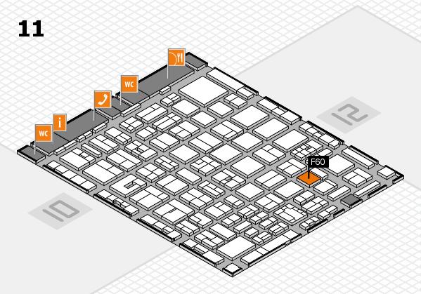 boot 2018 hall map (Hall 11): stand F60