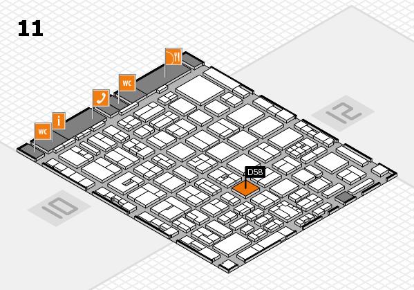 boot 2018 hall map (Hall 11): stand D58
