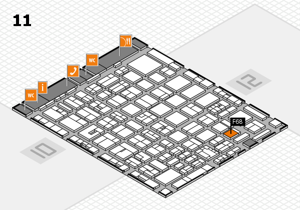 boot 2018 hall map (Hall 11): stand F68