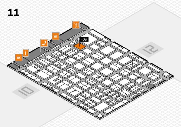 boot 2018 hall map (Hall 11): stand F08