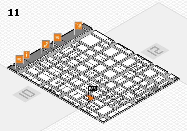 boot 2018 hall map (Hall 11): stand B56