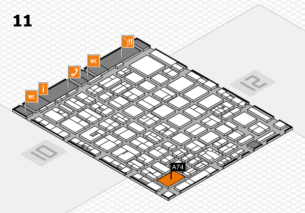 boot 2018 hall map (Hall 11): stand A74