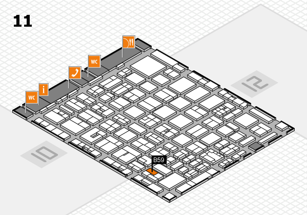 boot 2018 hall map (Hall 11): stand B59