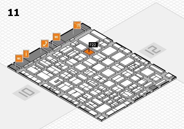 boot 2018 hall map (Hall 11): stand F22