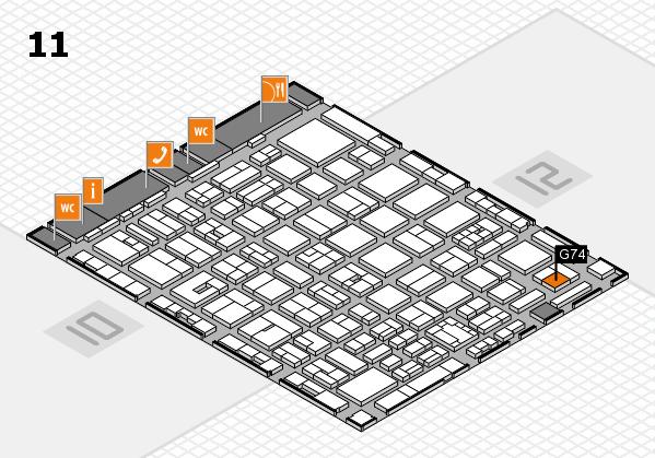 boot 2018 hall map (Hall 11): stand G74