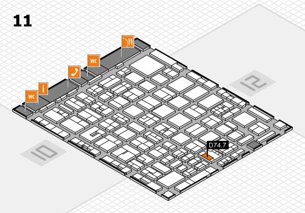 boot 2018 hall map (Hall 11): stand D74.7