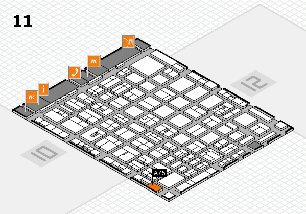 boot 2018 hall map (Hall 11): stand A75