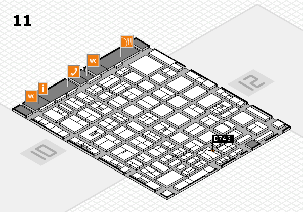 boot 2018 hall map (Hall 11): stand D74.3