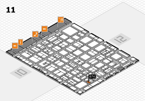 boot 2018 hall map (Hall 11): stand B74