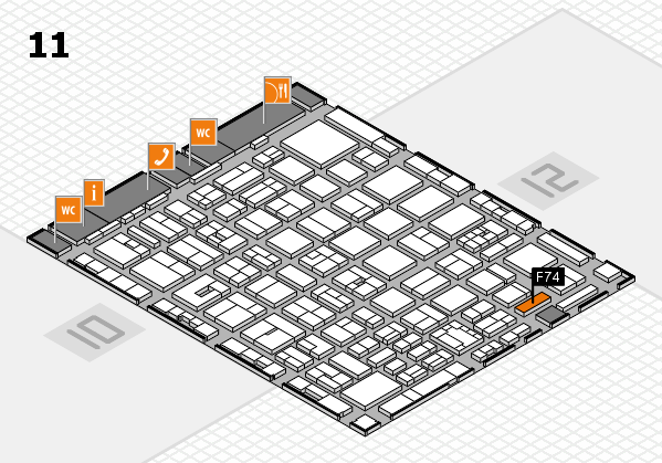 boot 2018 hall map (Hall 11): stand F74