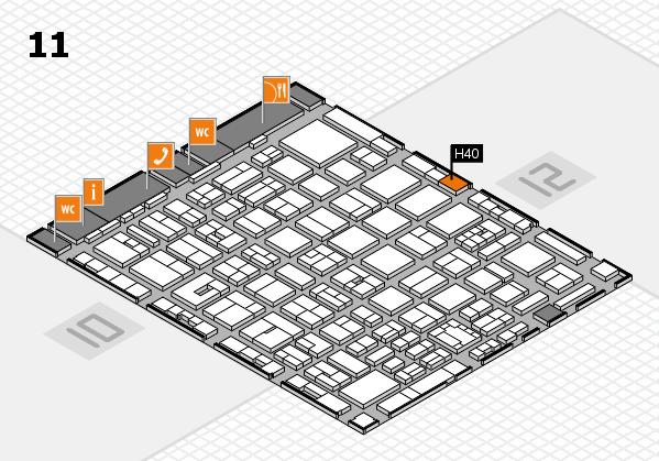 boot 2018 hall map (Hall 11): stand H40