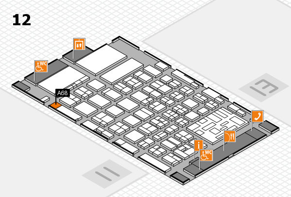 boot 2018 hall map (Hall 12): stand A68