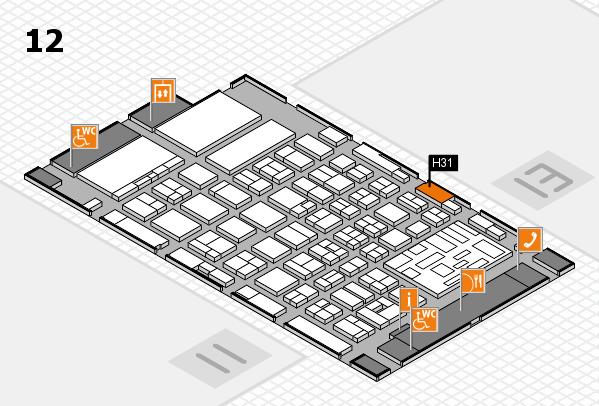 boot 2018 hall map (Hall 12): stand H31