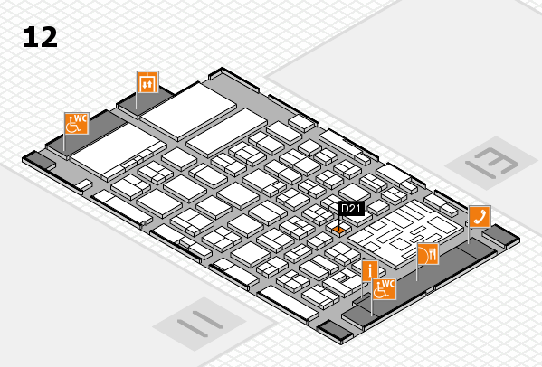 boot 2018 hall map (Hall 12): stand D21