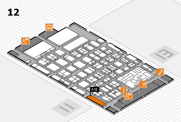 boot 2018 hall map (Hall 12): stand A18