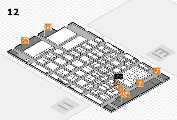boot 2018 hall map (Hall 12): stand D16