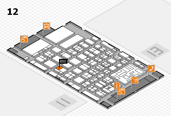 boot 2018 hall map (Hall 12): stand B50