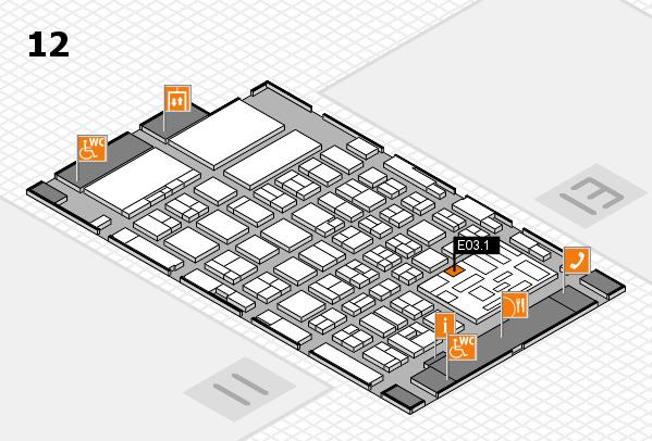 boot 2018 hall map (Hall 12): stand E03.1