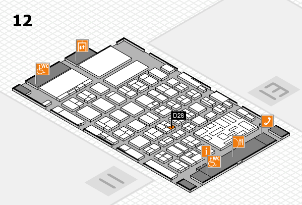 boot 2018 hall map (Hall 12): stand D28