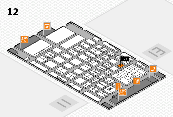 boot 2018 hall map (Hall 12): stand F21
