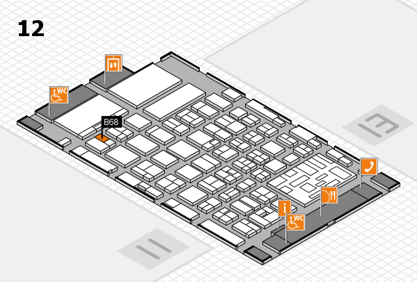 boot 2018 hall map (Hall 12): stand B68