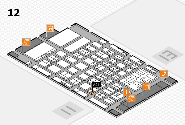 boot 2018 hall map (Hall 12): stand A21