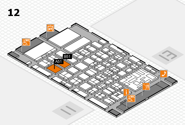 boot 2018 hall map (Hall 12): stand A51, stand B51