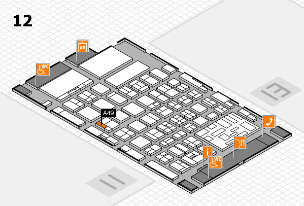 boot 2018 hall map (Hall 12): stand A49