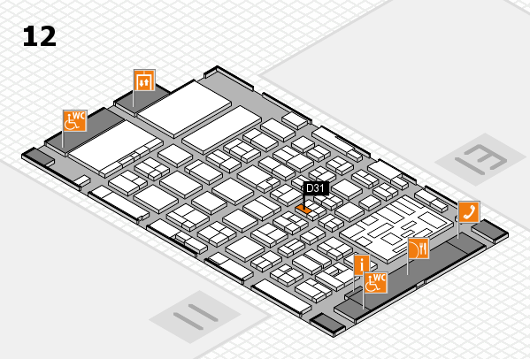 boot 2018 hall map (Hall 12): stand D31