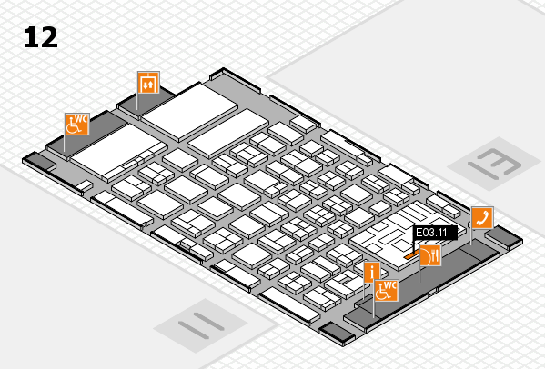 boot 2018 hall map (Hall 12): stand E03.11