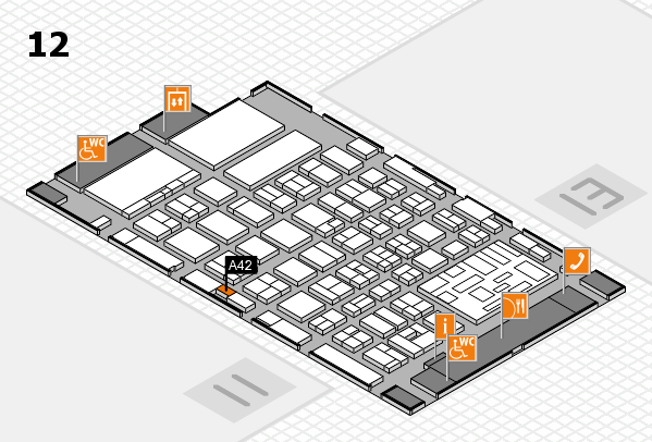 boot 2018 hall map (Hall 12): stand A42