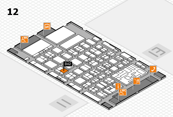 boot 2018 hall map (Hall 12): stand B42