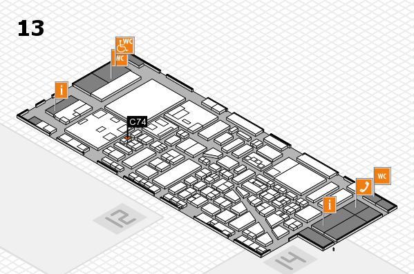 boot 2018 hall map (Hall 13): stand C74