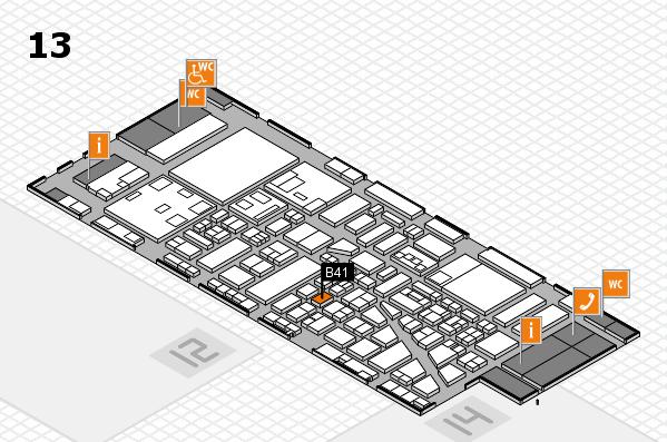 boot 2018 hall map (Hall 13): stand B41