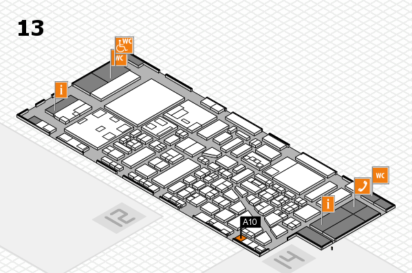 boot 2018 hall map (Hall 13): stand A10