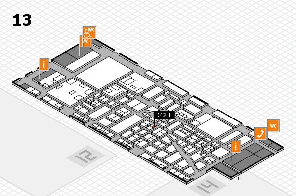 boot 2018 hall map (Hall 13): stand D42.1