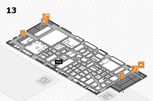 boot 2018 hall map (Hall 13): stand A52