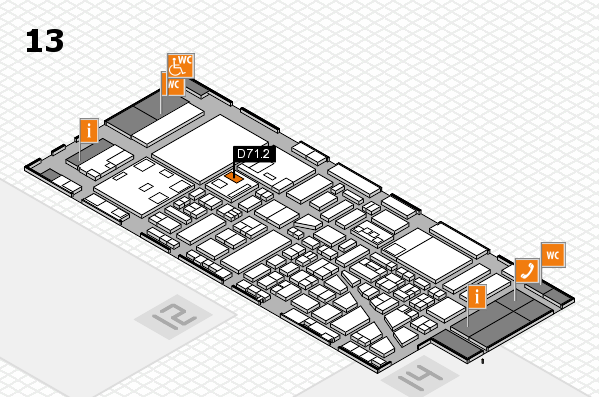 boot 2018 hall map (Hall 13): stand D71.2