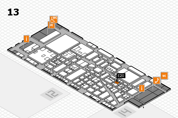 boot 2018 hall map (Hall 13): stand E20